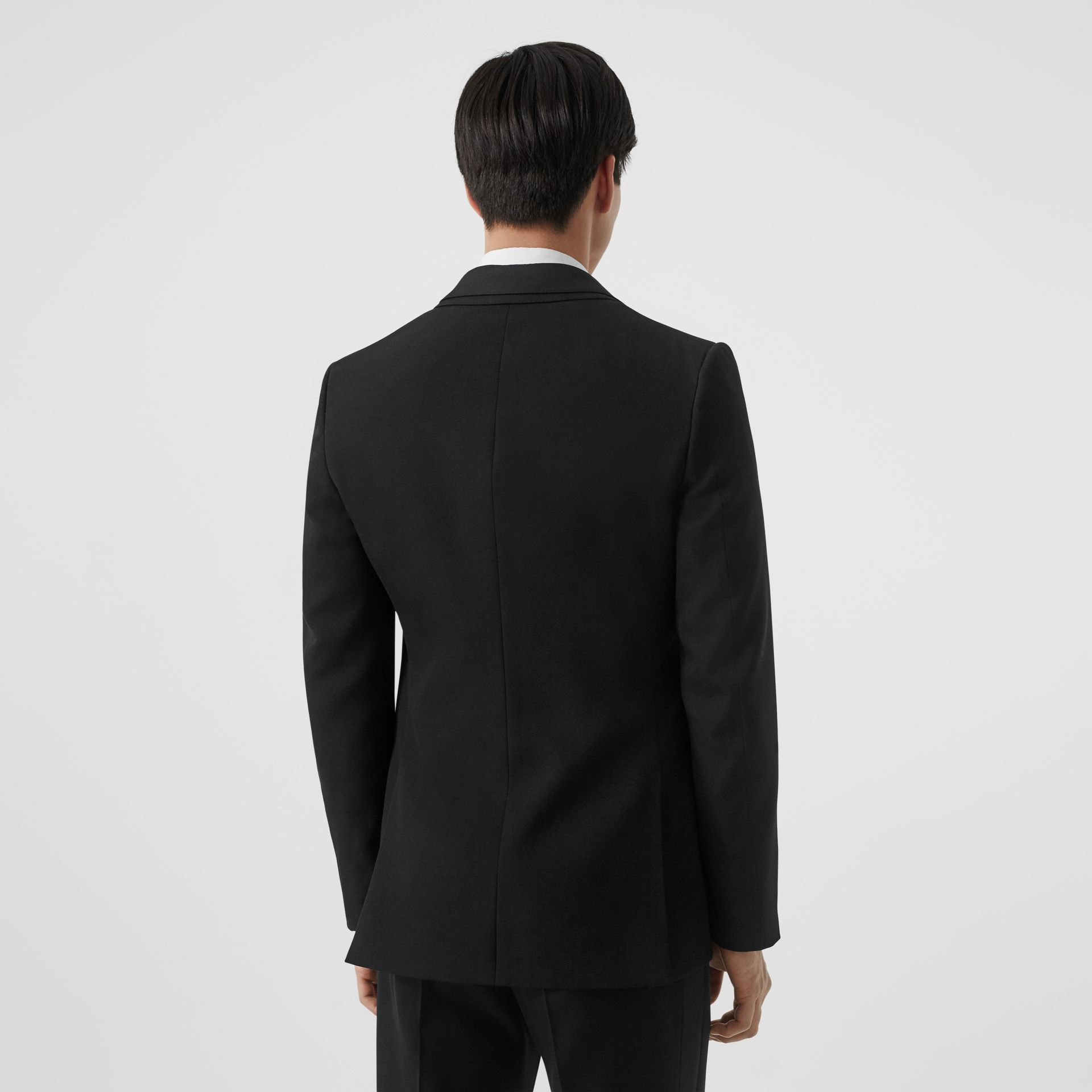 English Fit Reconstructed Wool Tailored Jacket in Black - Men | Burberry United Kingdom - gallery image 2