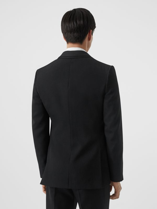 English Fit Reconstructed Wool Tailored Jacket in Black - Men | Burberry - cell image 2