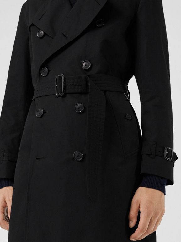 The Kensington Heritage Trench Coat in Black | Burberry United Kingdom - cell image 1