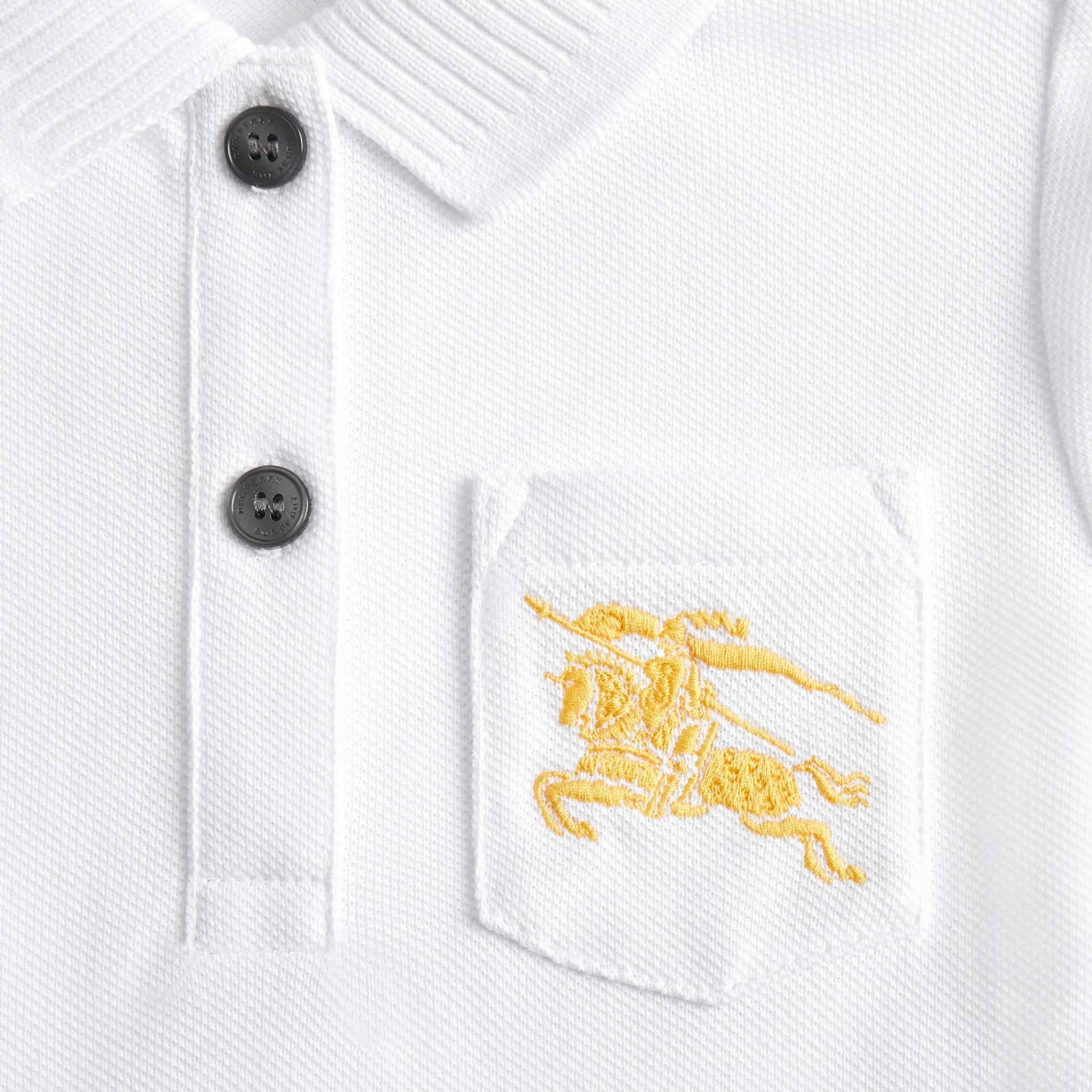 EKD Logo Cotton Polo Dress in White - Children | Burberry - gallery image 1