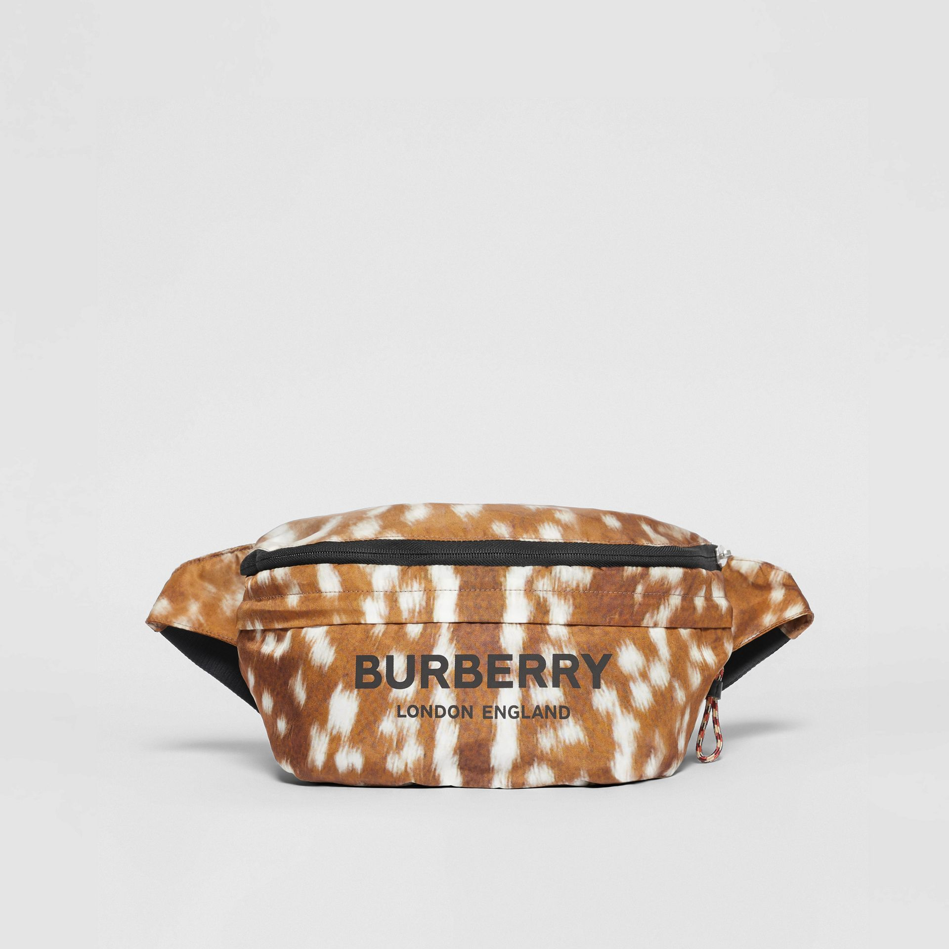 Deer Print Convertible Bum Bag in Tan/white | Burberry - gallery image 12