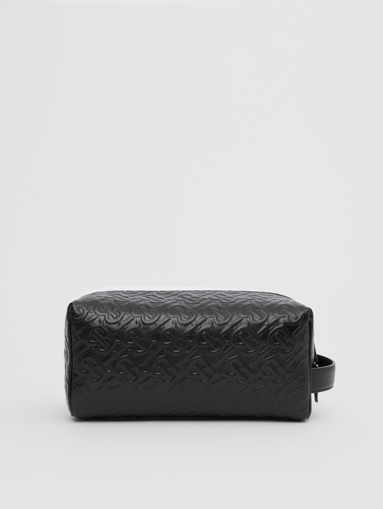 Monogram Leather Travel Pouch in Black
