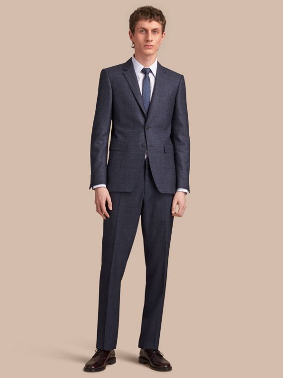 Slim Fit Lightweight Wool Part-canvas Suit - Men | Burberry Canada