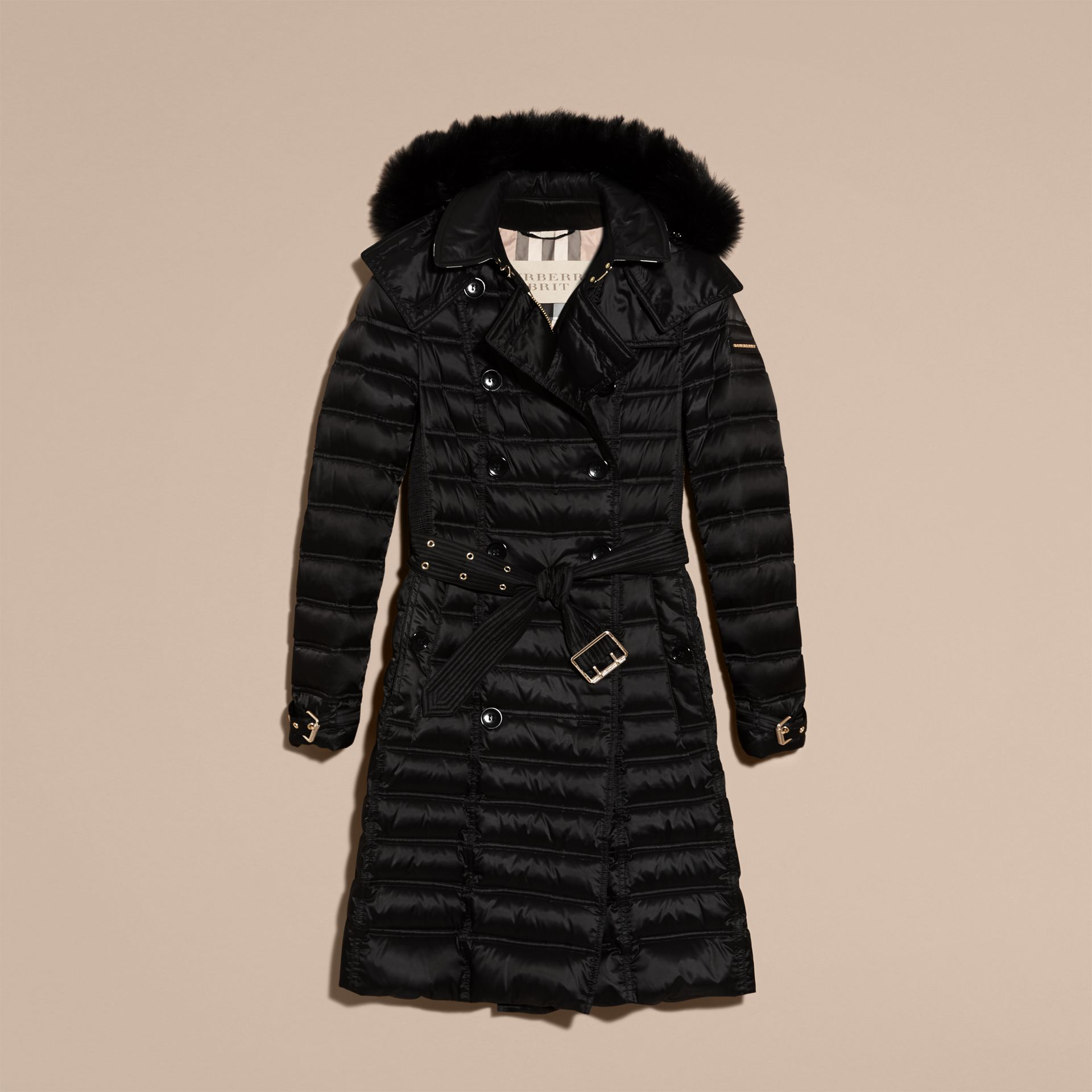 Down-Filled Puffer Coat with Fur Trim - gallery image 4