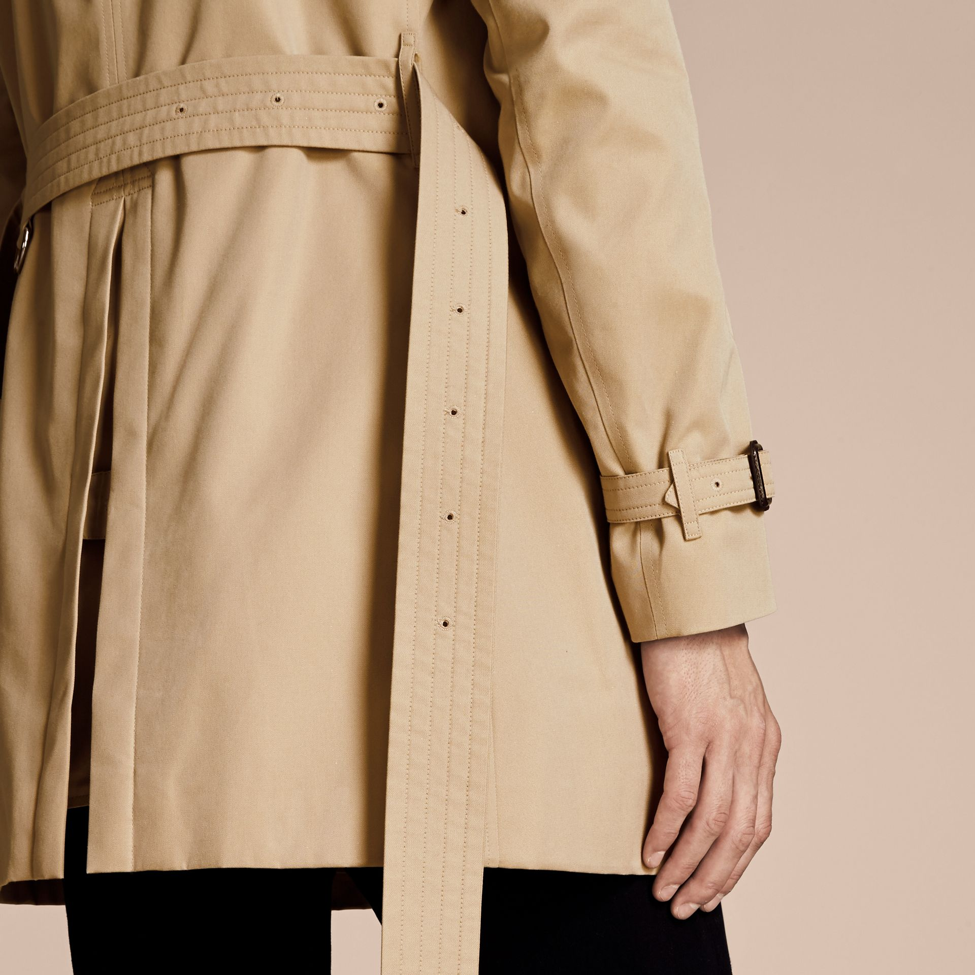 Honey The Chelsea – Mid-length Heritage Trench Coat Honey - gallery image 6