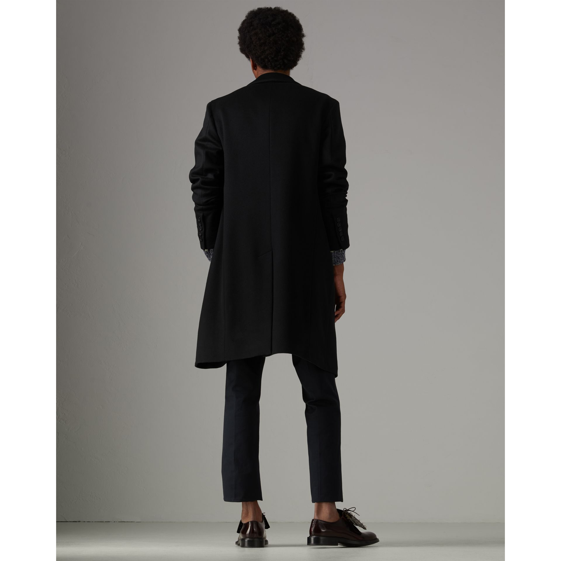 Wool Cashmere Tailored Coat in Black - Men | Burberry United Kingdom - gallery image 2