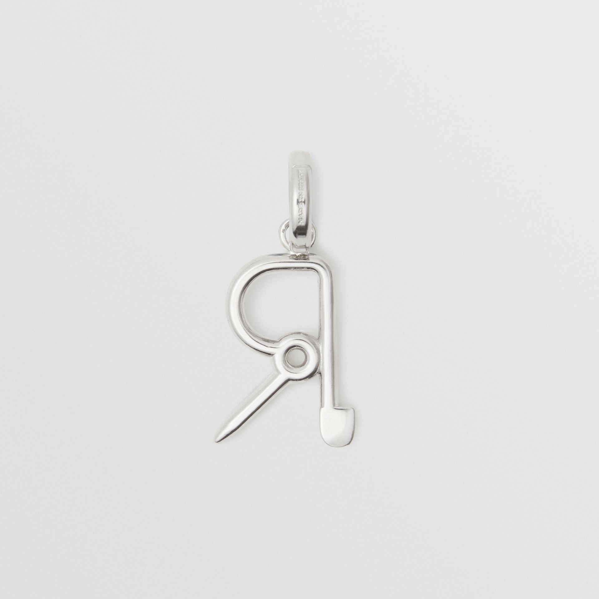 Kilt Pin 'R' Alphabet Charm in Palladio - Women | Burberry United Kingdom - gallery image 3