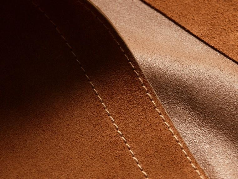 Cognac Manteau portefeuille en cuir velours - cell image 1