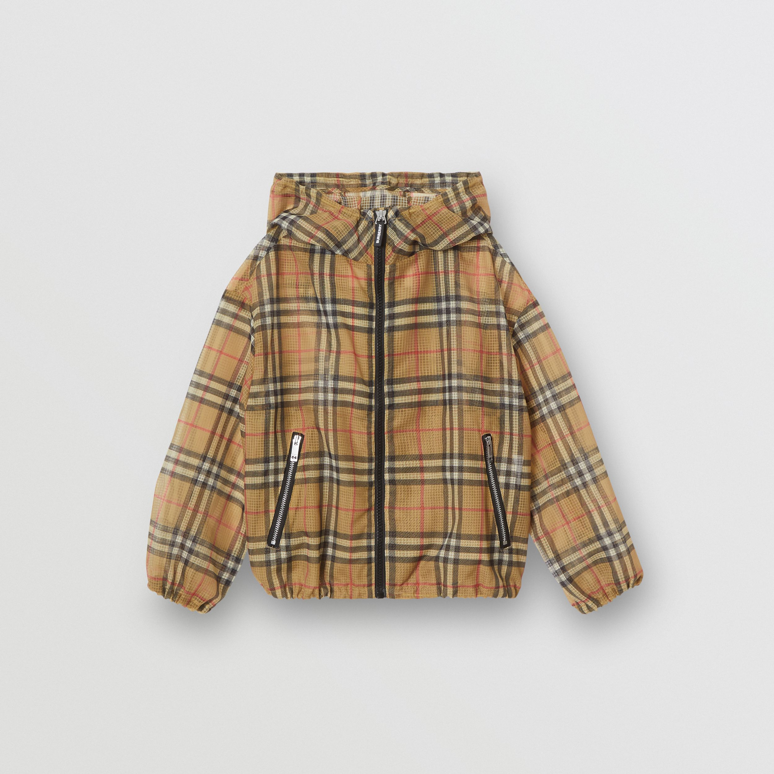 Lightweight Vintage Check Hooded Jacket in Antique Yellow | Burberry - 1