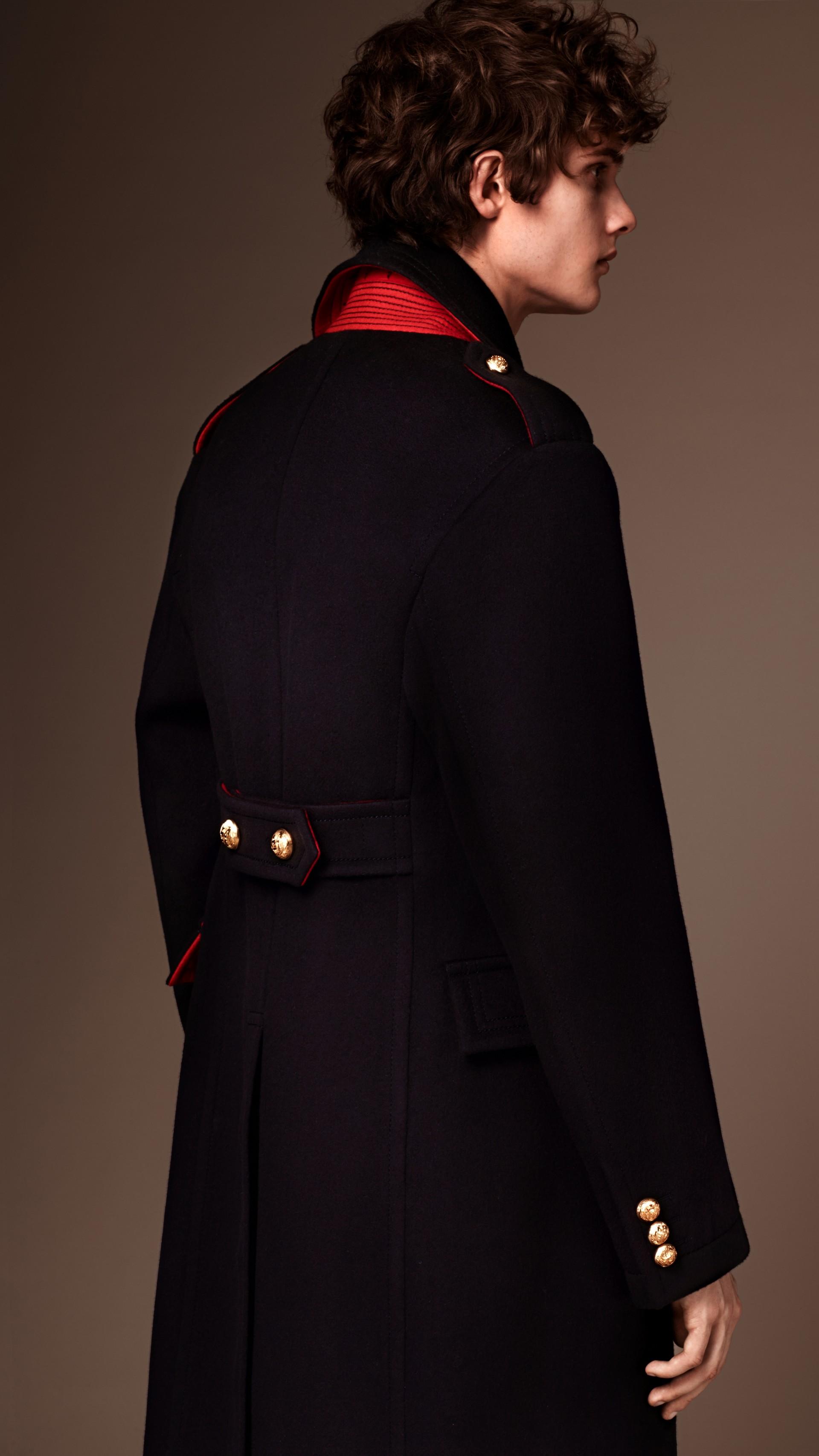 Темно-синий Пальто в стиле милитари - изображение 2