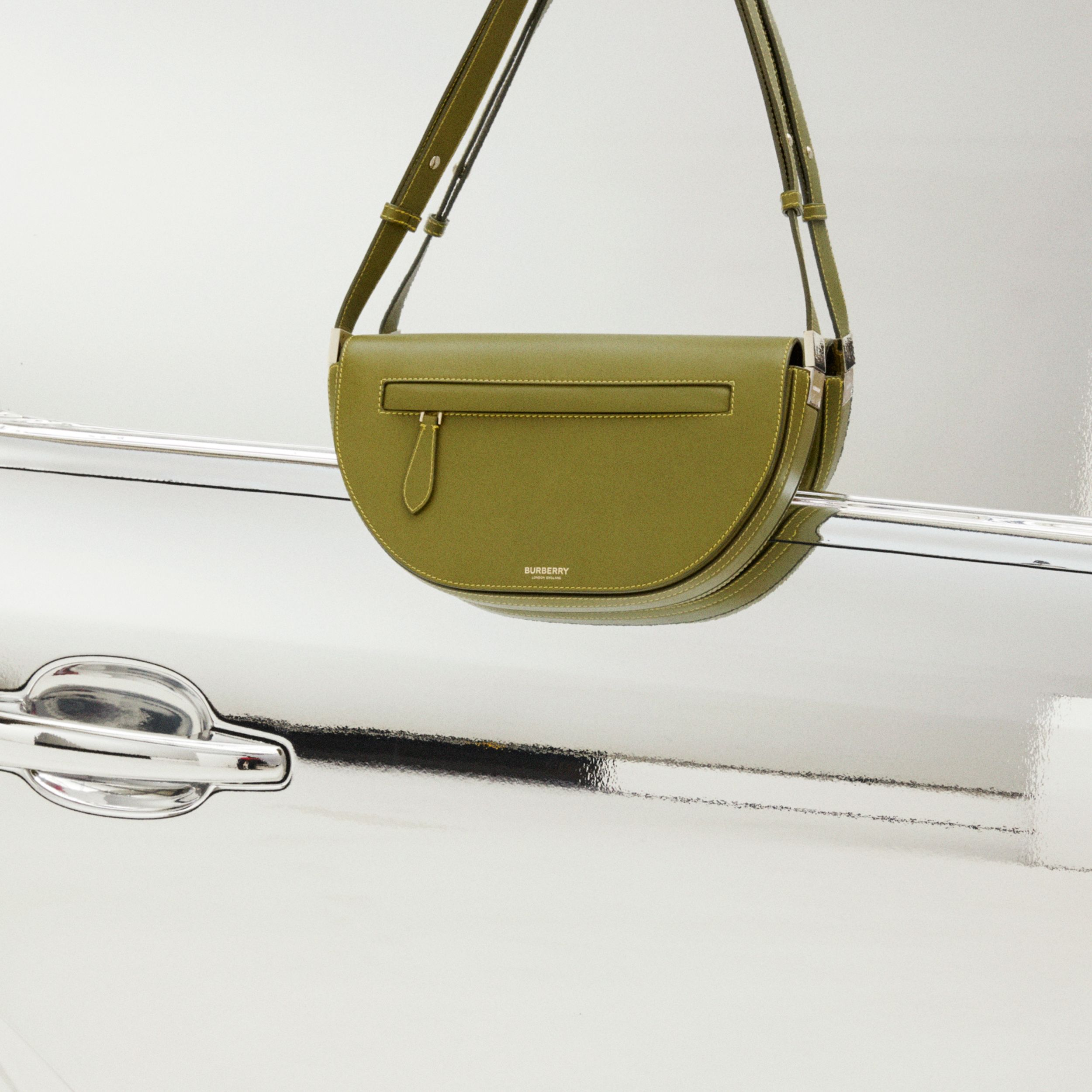 Small Leather Olympia Bag in Juniper Green | Burberry Canada - 2