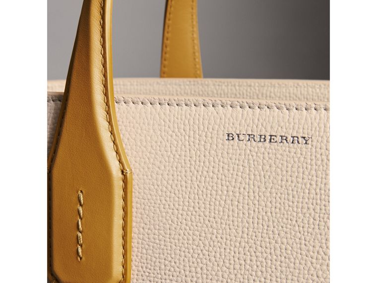 The Medium Banner in Two-tone Leather in Limestone/cornflower Yellow - Women | Burberry United Kingdom - cell image 1