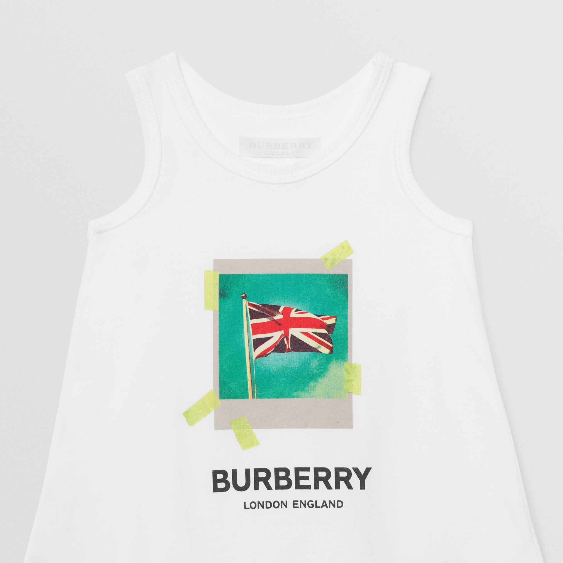 Polaroid Print Cotton Bodysuit in White - Children | Burberry Canada - gallery image 4