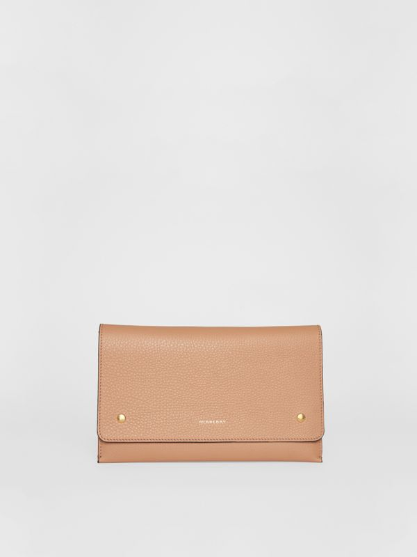 Two-tone Leather Wristlet Clutch in Light Camel - Women | Burberry - cell image 3