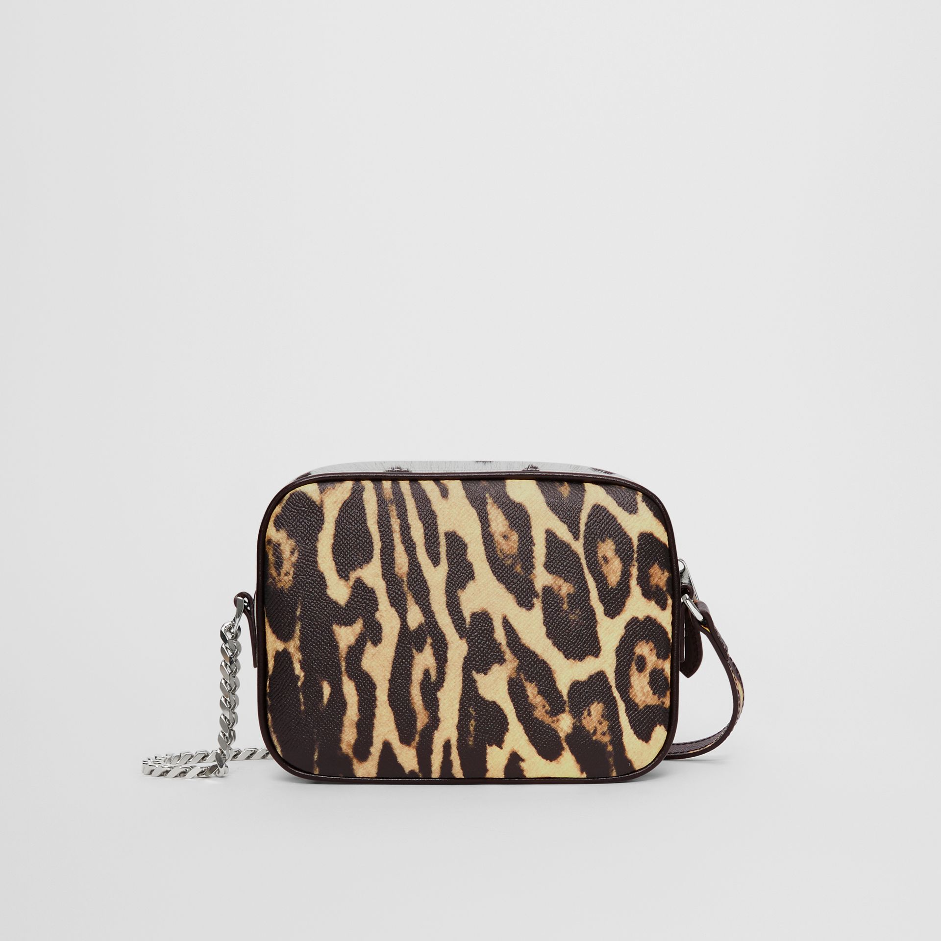 Animal Print Leather Camera Bag in Honey/black - Women | Burberry United Kingdom - gallery image 6