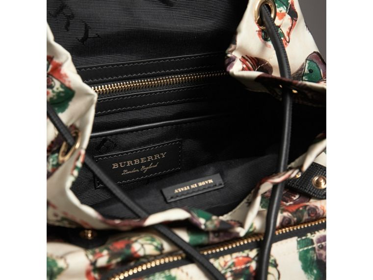 The Medium Rucksack in Technical Nylon with Pallas Heads Print in Natural White - Women | Burberry Australia - cell image 4
