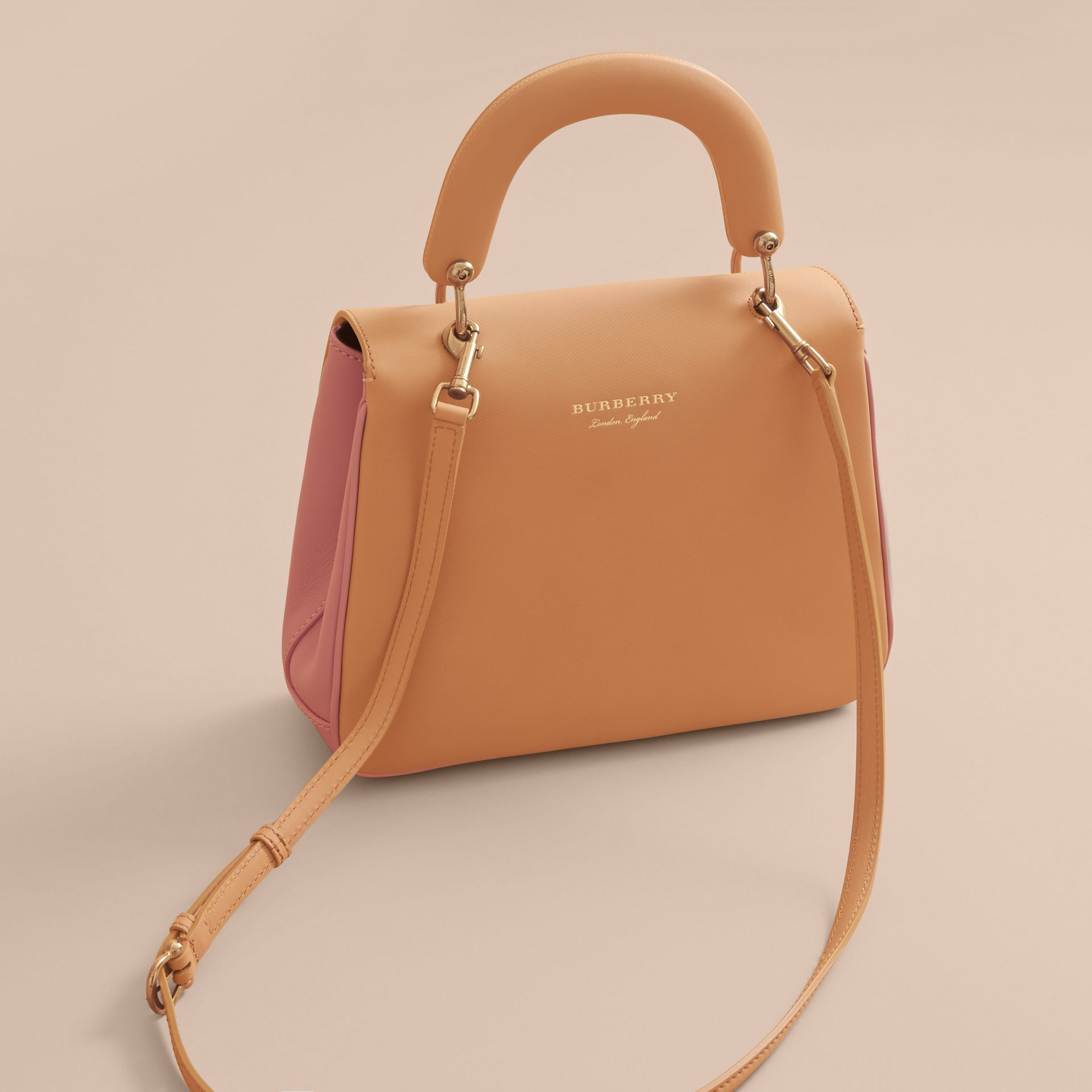 The Medium DK88 Top Handle Bag in Ash Rose/pale Clementine - Women | Burberry Australia - gallery image 3
