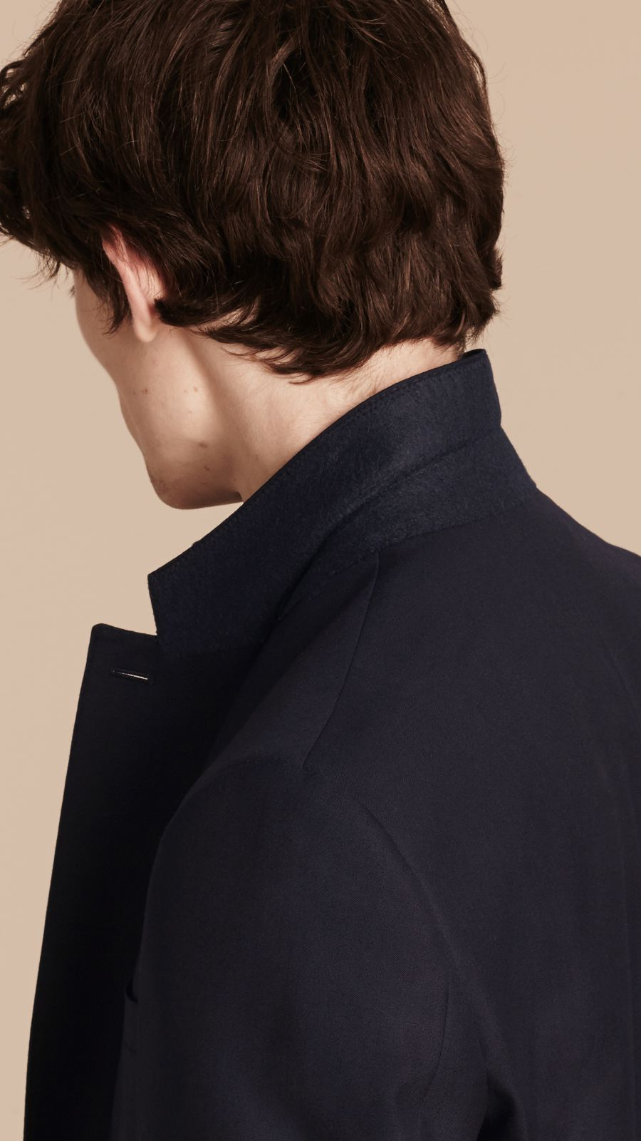 Navy Classic Fit Wool Part-canvas Suit Navy - Image 7