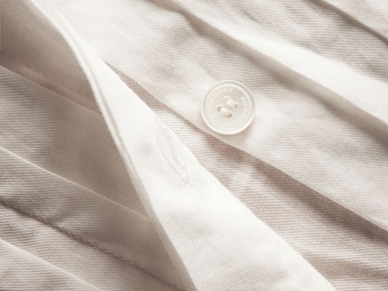 White Ruff Collar Cotton Tulle Shirt - cell image 1