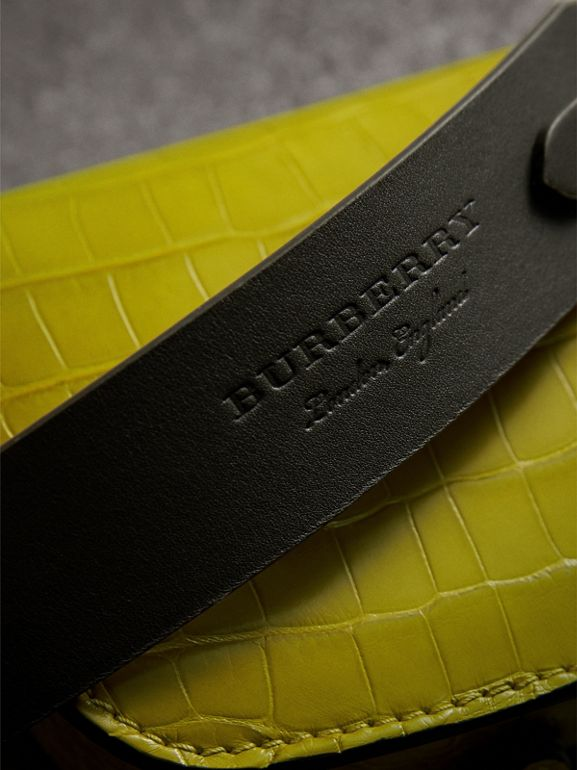 Mini sac The Satchel en alligator (Citron Vert Foncé) | Burberry - cell image 1