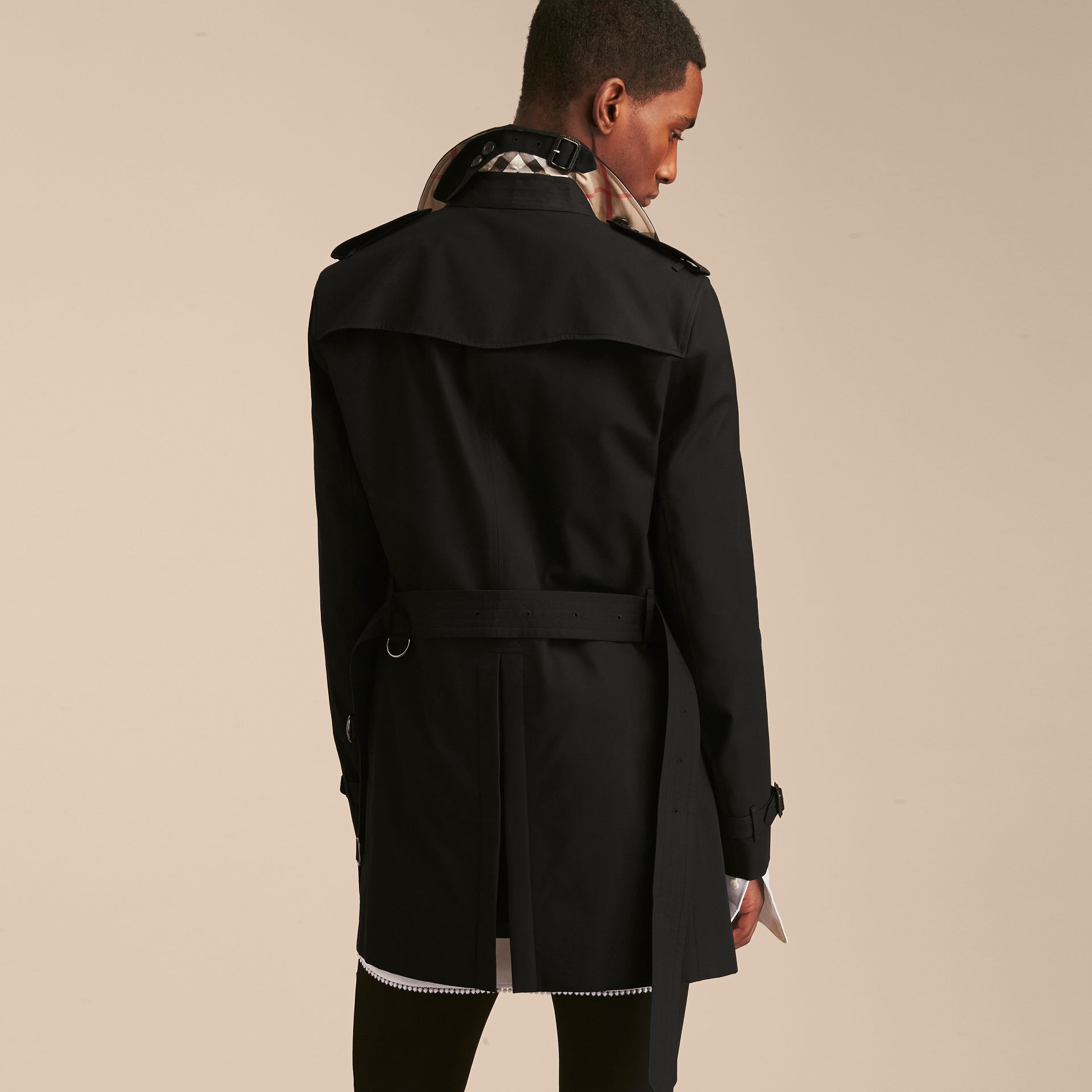 Black The Chelsea – Mid-length Heritage Trench Coat Black - gallery image 4
