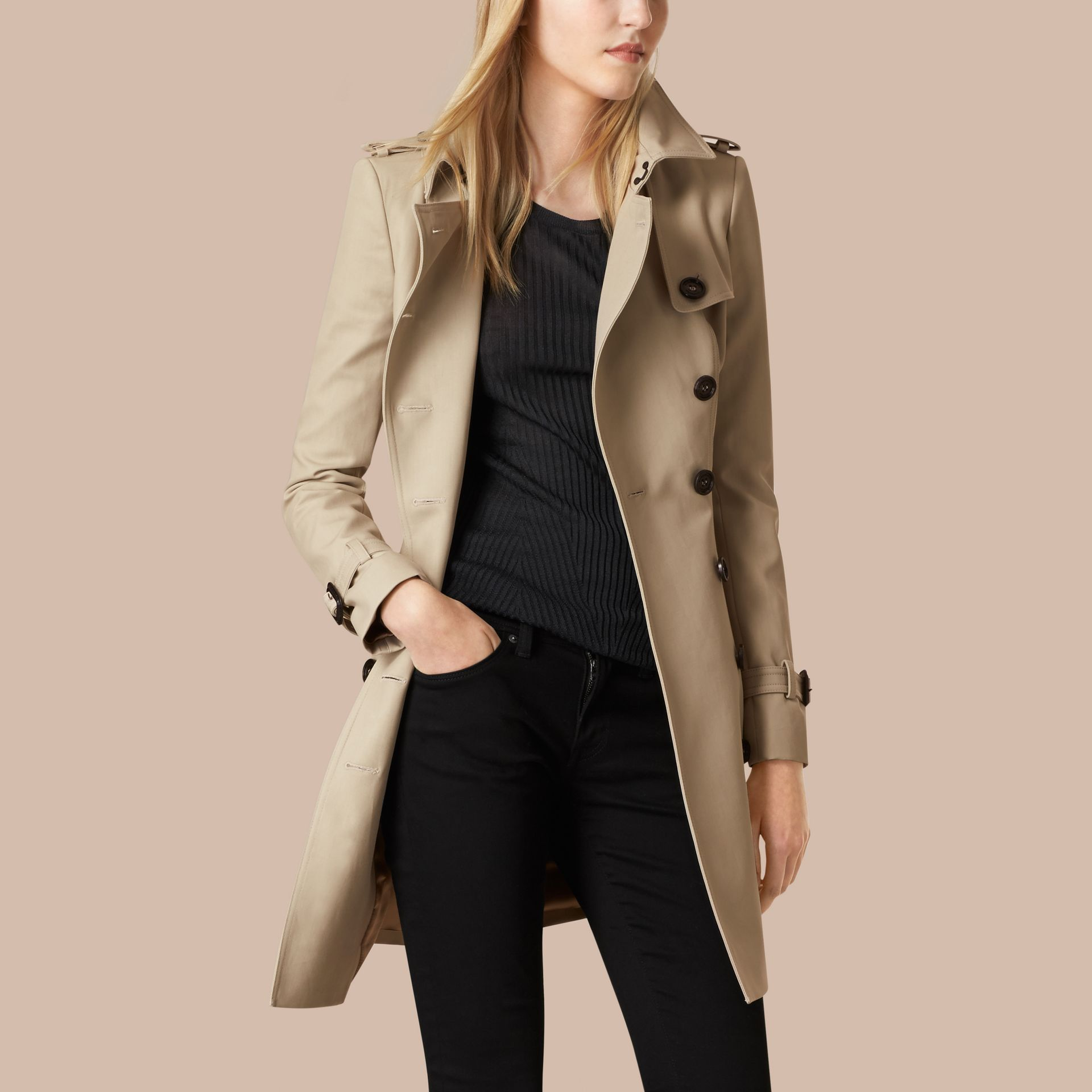 Trench Double Cotton Twill Trench Coat - gallery image 4