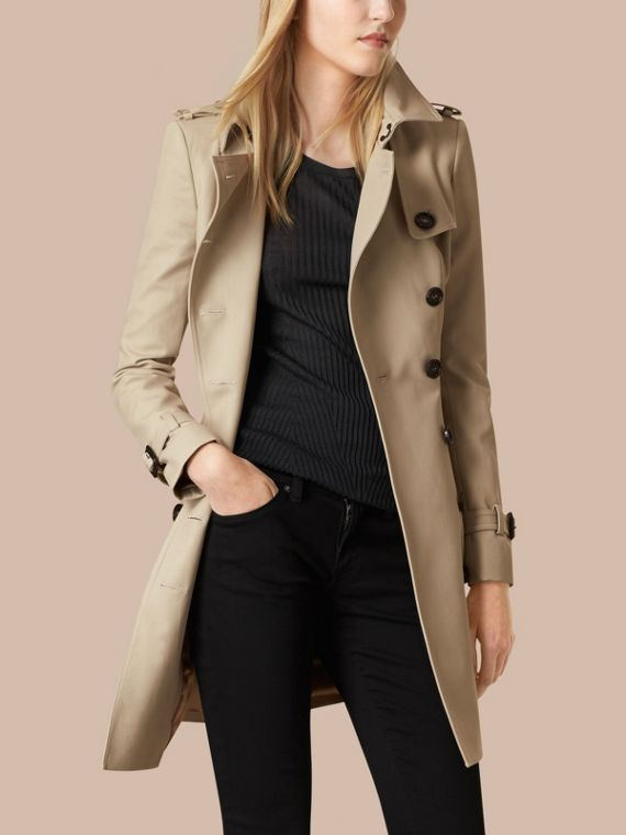 Trench Double Cotton Twill Trench Coat - cell image 3