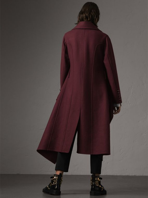 Double-faced Wool Cashmere Wrap Coat in Deep Claret - Women | Burberry Singapore - cell image 2