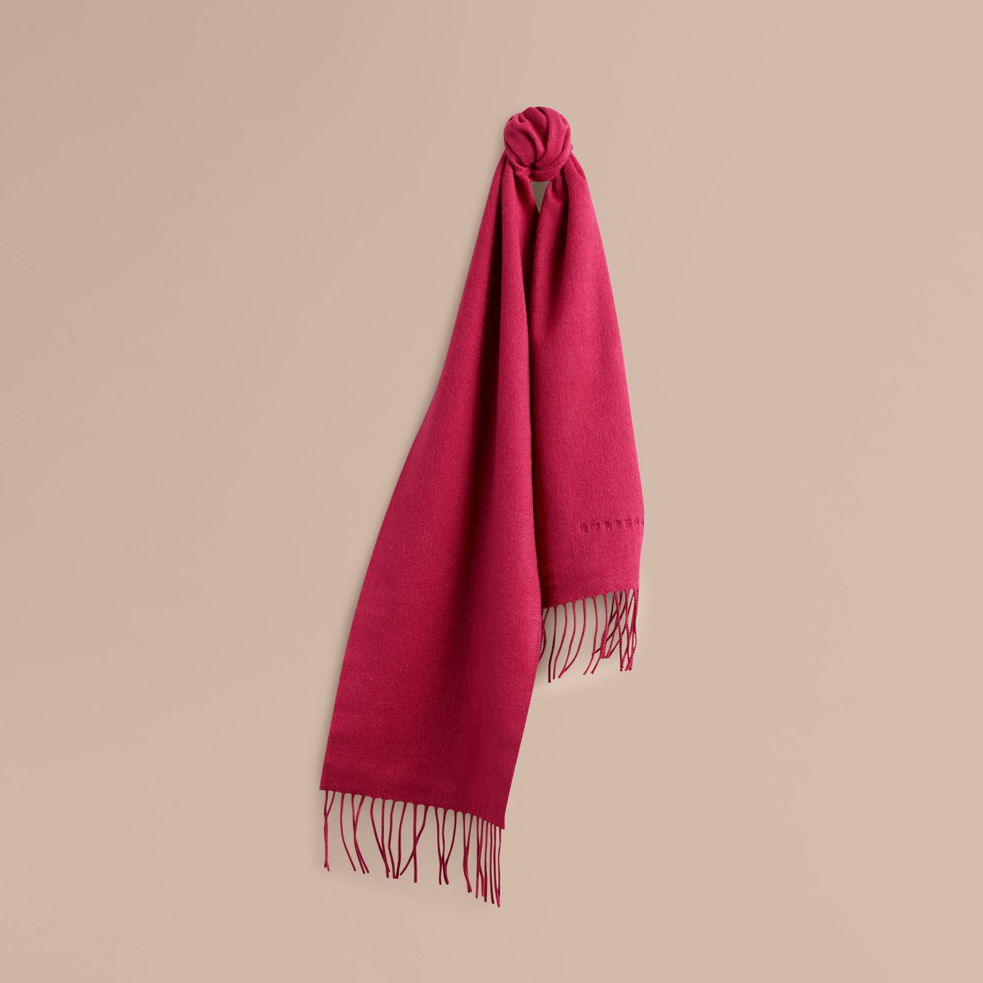 Fuchsia pink The Mini Classic Cashmere Scarf - gallery image 1