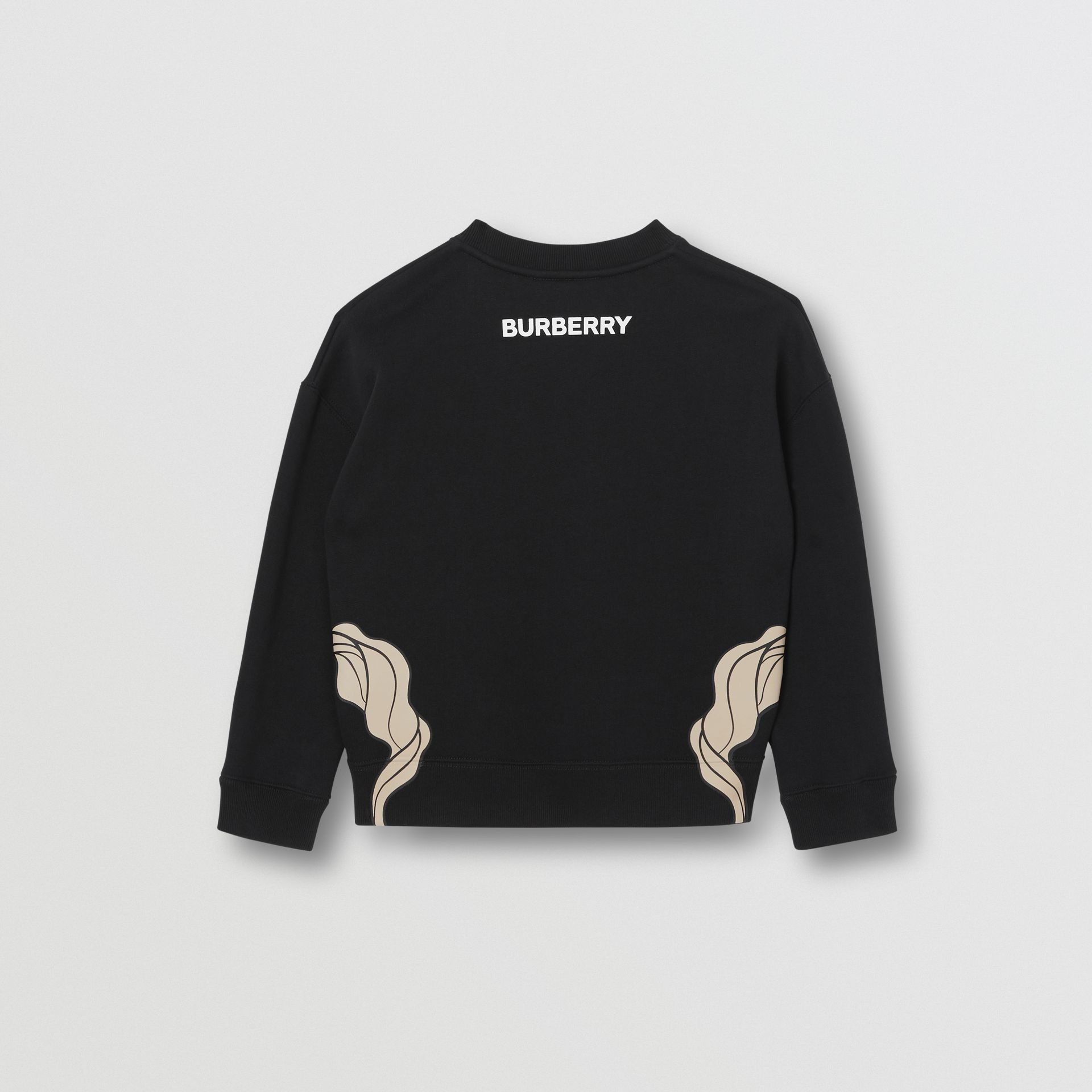 Unicorn Print Cotton Jersey Sweatshirt in Black | Burberry - gallery image 3