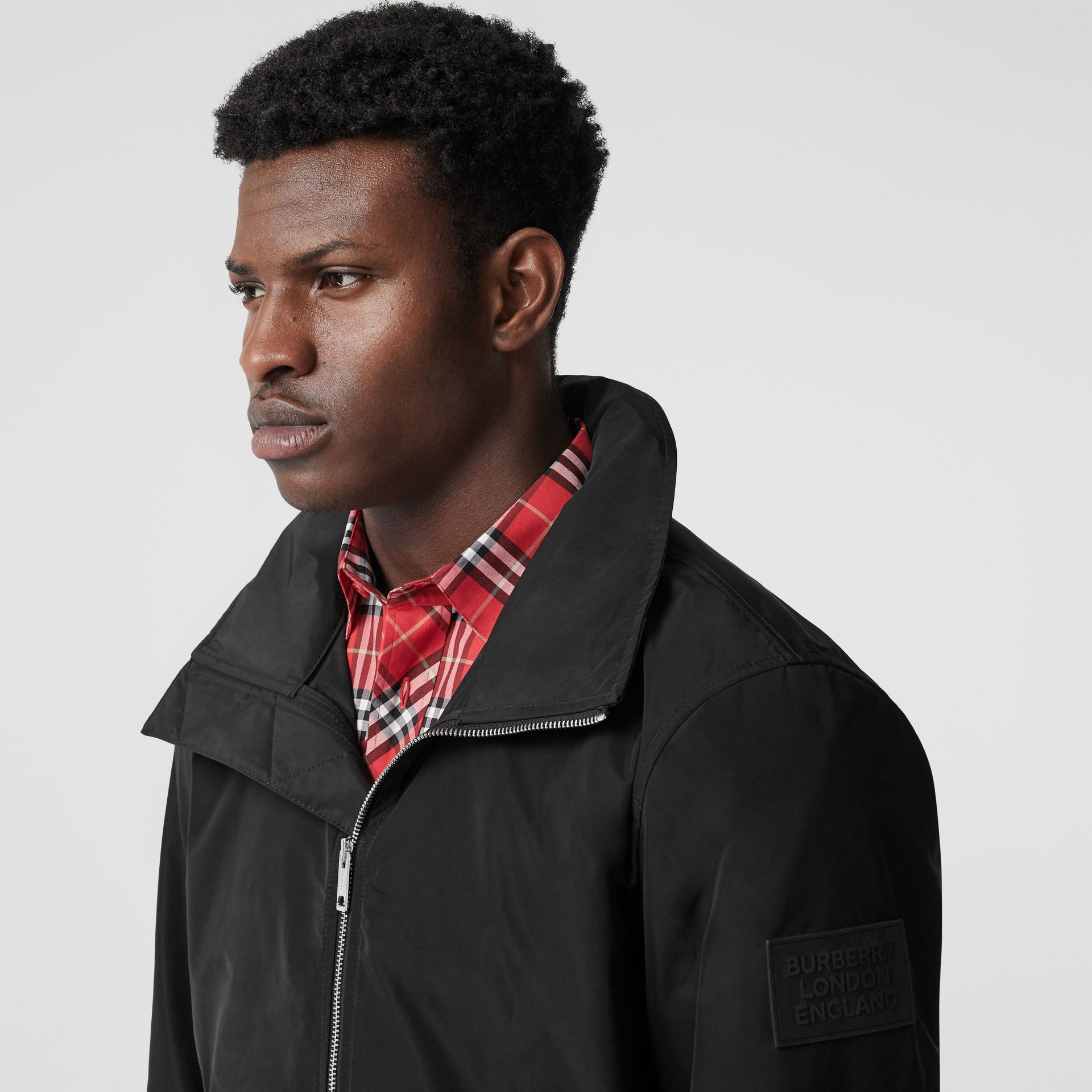 Packaway Hood Shape-memory Taffeta Jacket in Black - Men | Burberry Australia - gallery image 1
