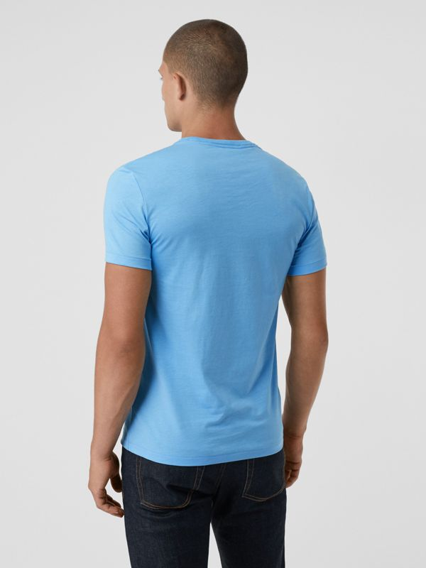 Cotton Jersey T-shirt in Blue Topaz - Men | Burberry - cell image 2