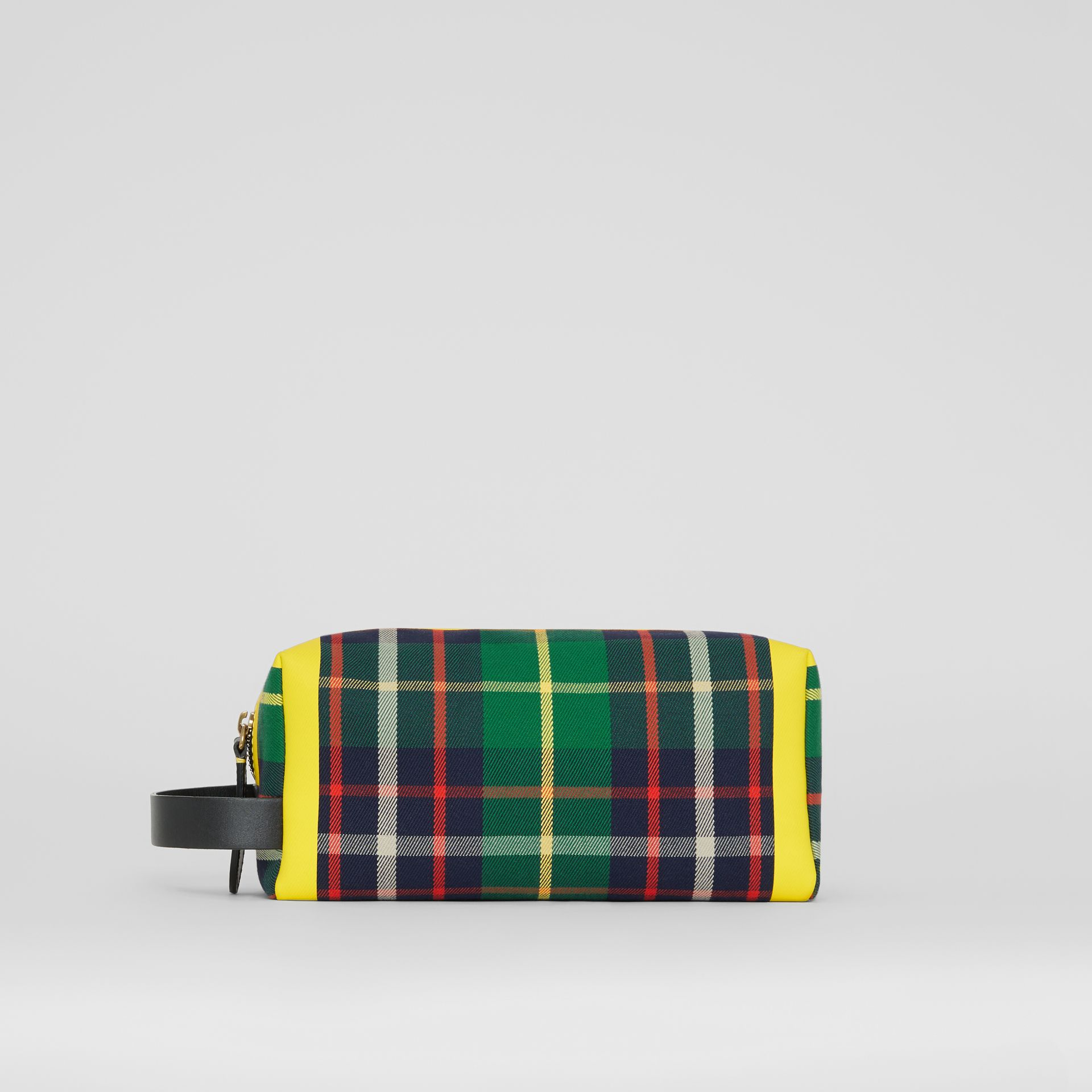 Tartan Cotton Pouch in Forest Green | Burberry - gallery image 4