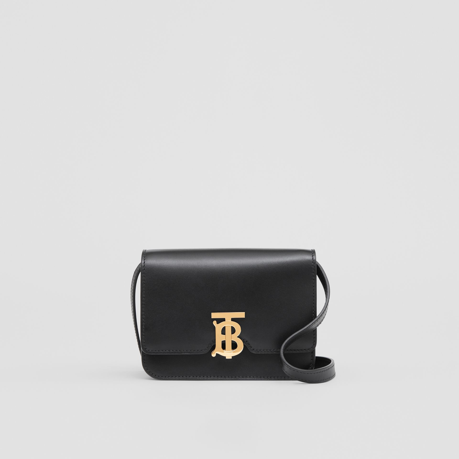 Mini Leather TB Bag in Black - Women | Burberry United Kingdom - gallery image 0