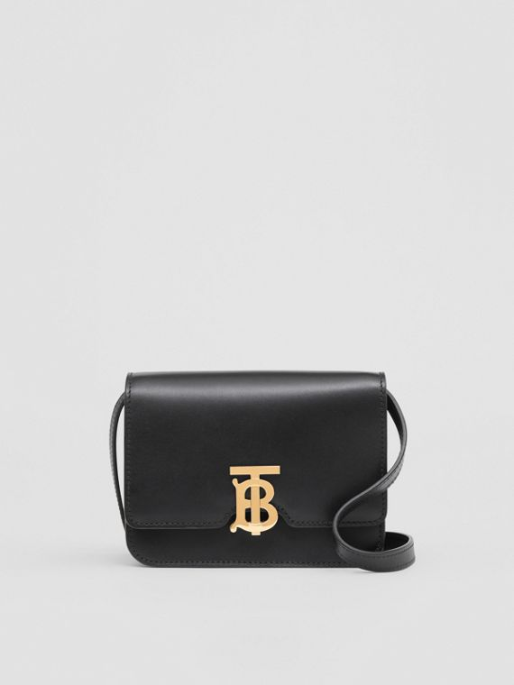 Borsa TB mini in pelle (Nero)