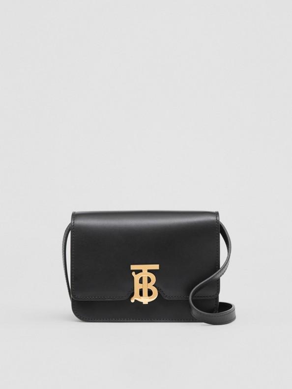 TB Bag im Miniformat aus Leder (Schwarz)