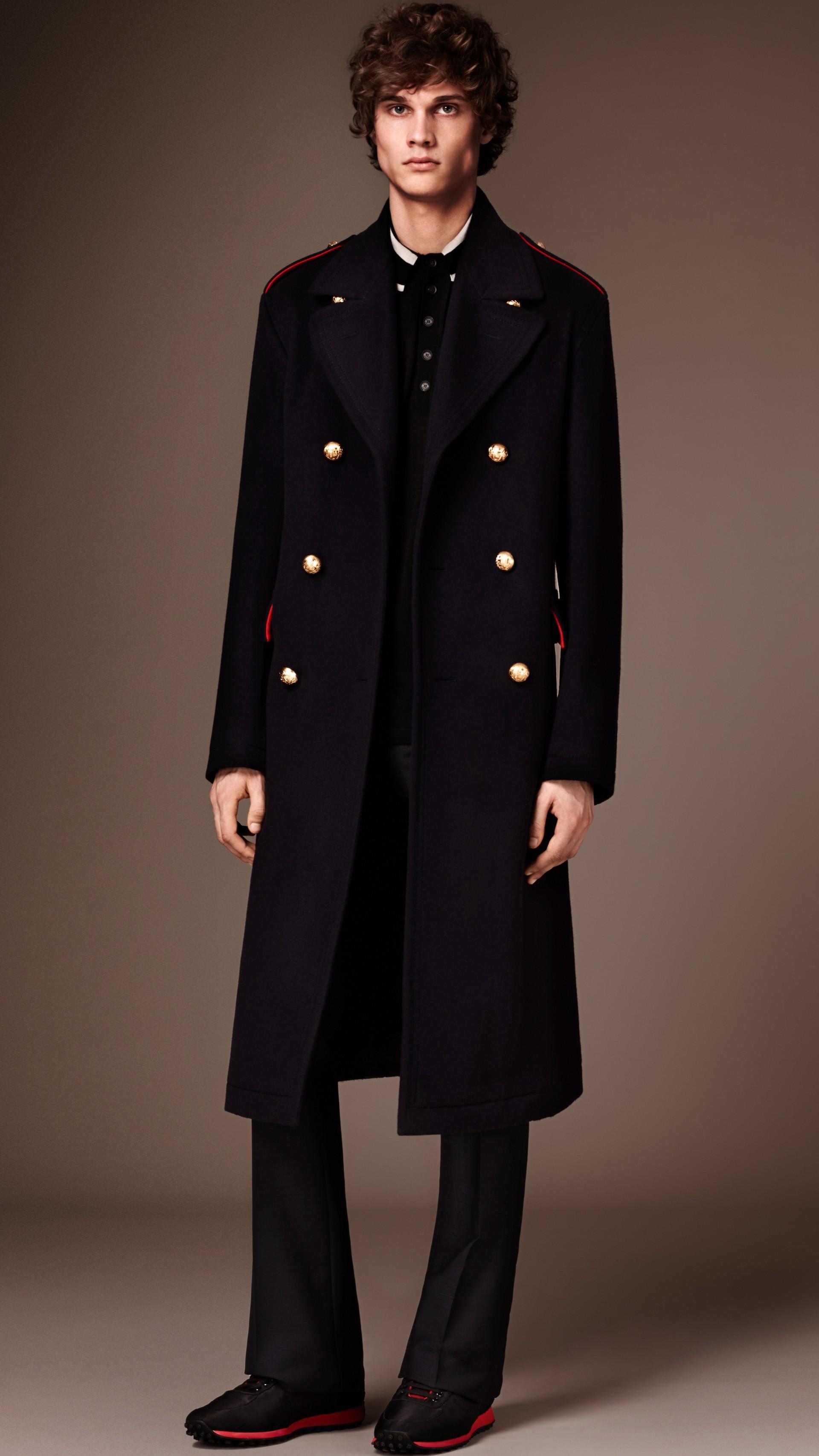 Темно-синий Пальто в стиле милитари - изображение 1