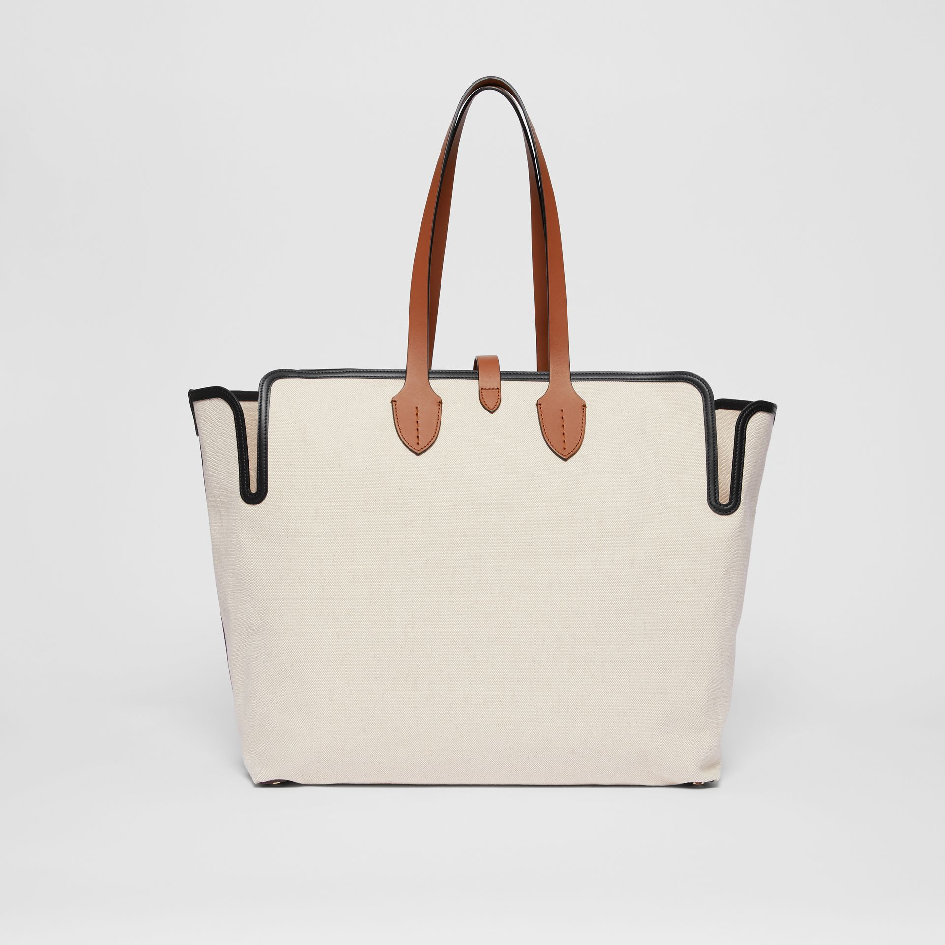 Grand sac The Belt en toile de coton douce (Brun Malt) | Burberry - photo de la galerie 7