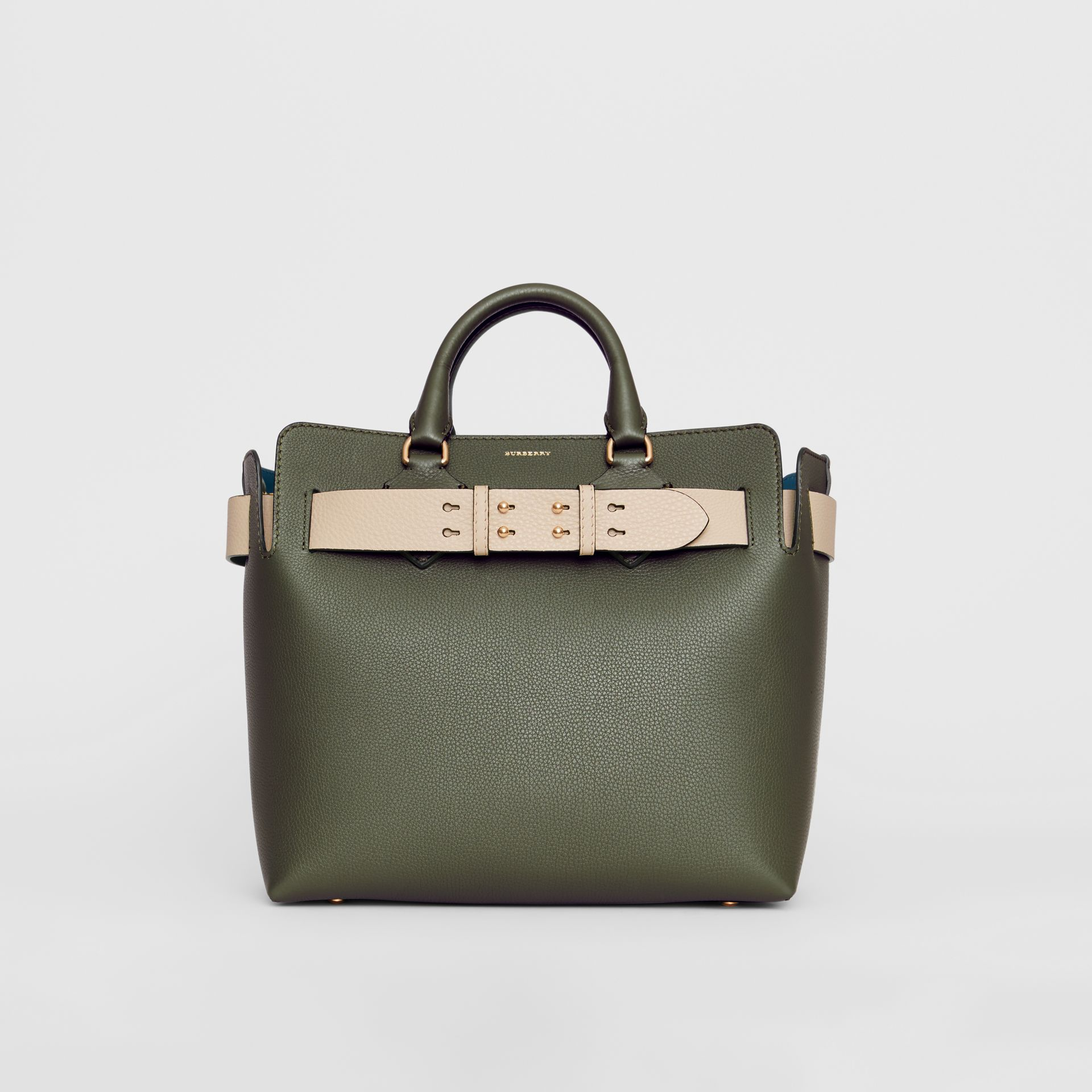 The Medium Leather Belt Bag in Sage Green - Women | Burberry United States - gallery image 0