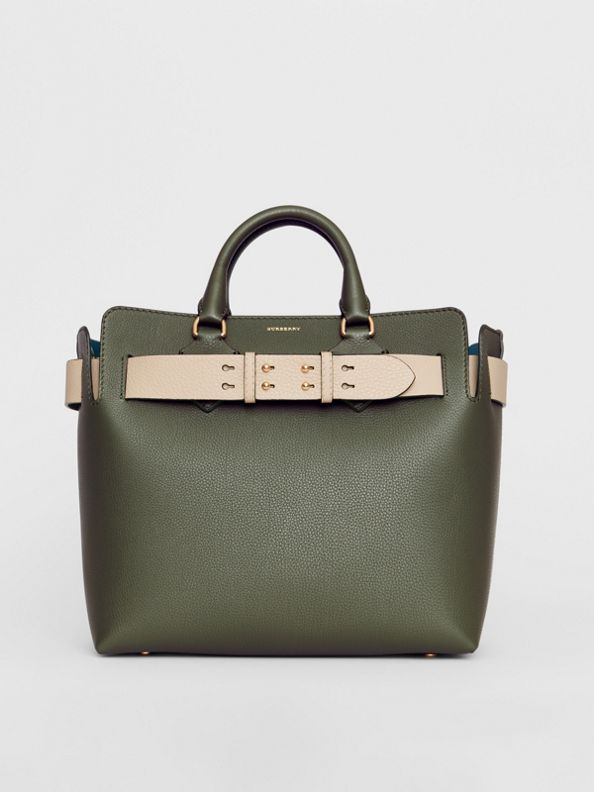 The Medium Leather Belt Bag in Sage Green