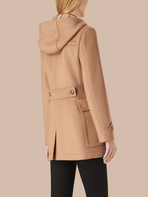 Fitted Wool Duffle Coat in New Camel - cell image 2