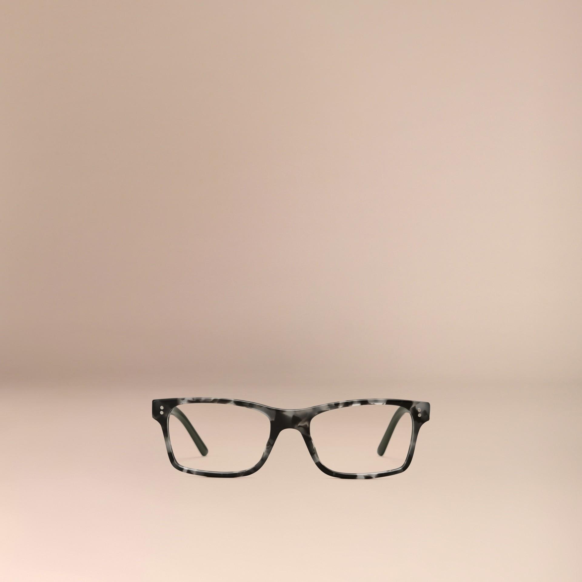 Pale grey melange Rectangular Optical Frames Pale Grey Melange - gallery image 2
