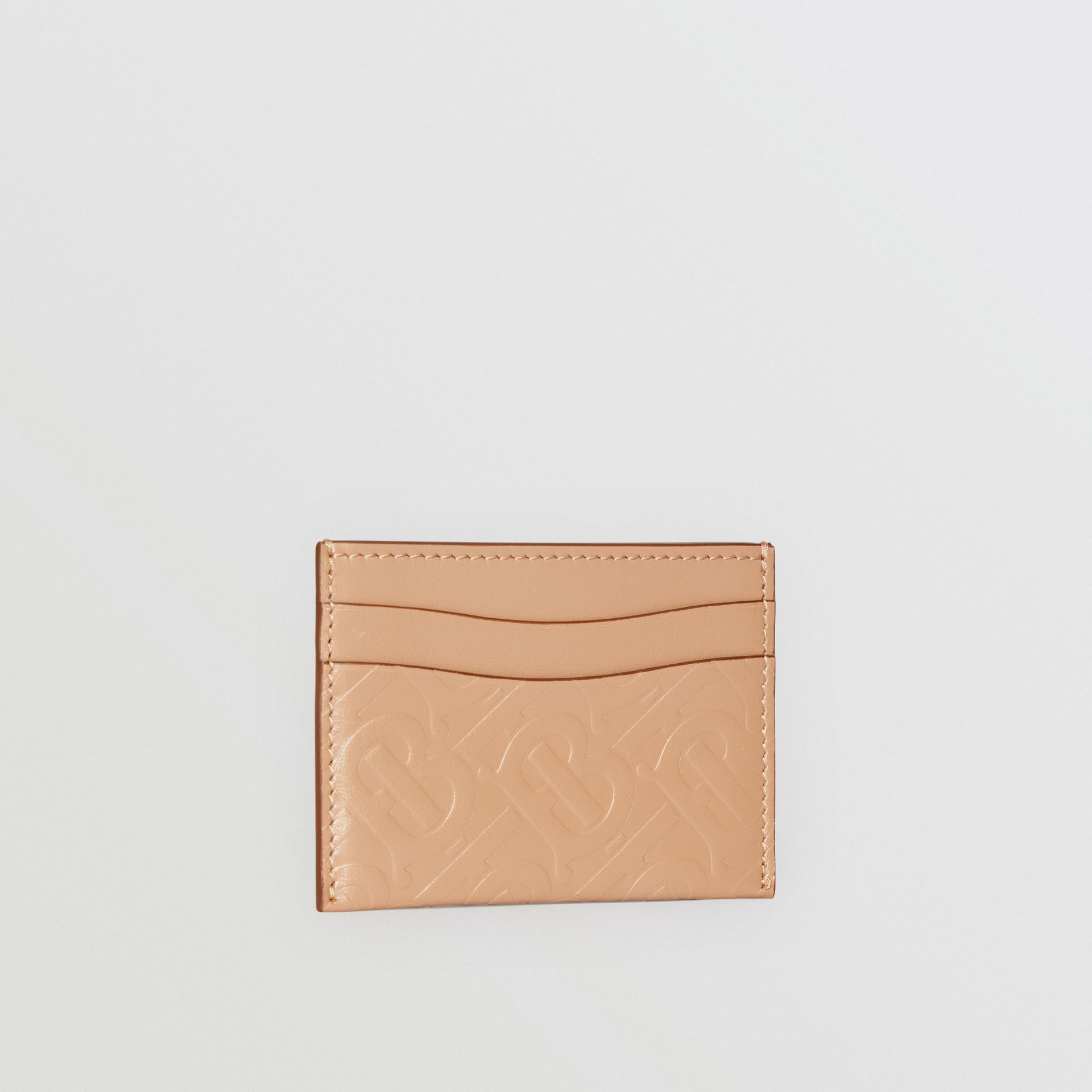 Monogram Leather Card Case in Light Camel - Women | Burberry - gallery image 3