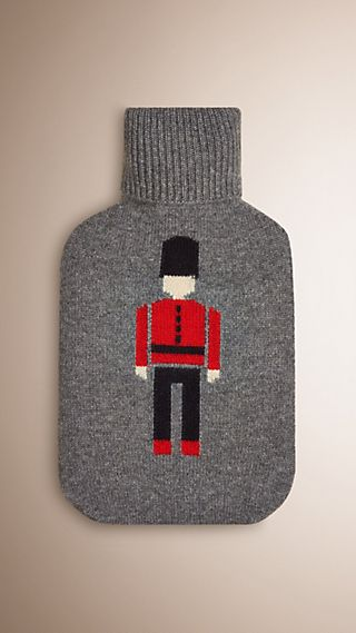 The Guardsman Graphic Cashmere Hot Water Bottle Cover