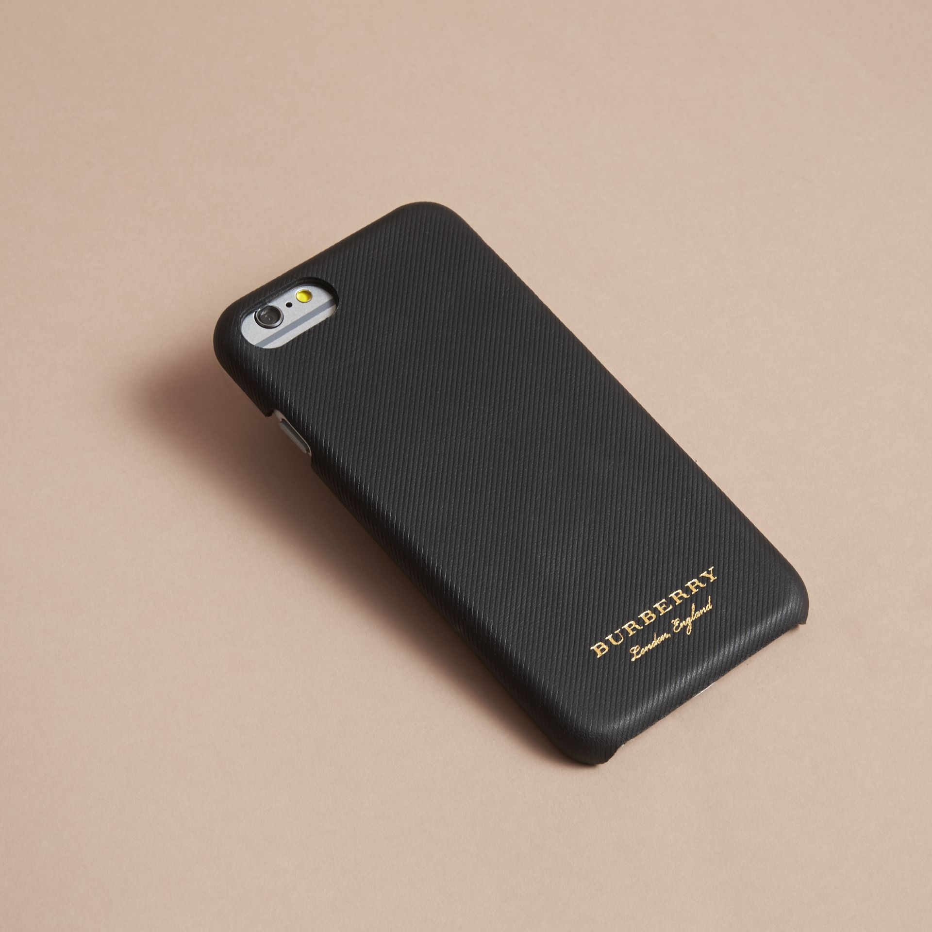 Trench Leather iPhone 7 Case in Black | Burberry Australia - gallery image 2