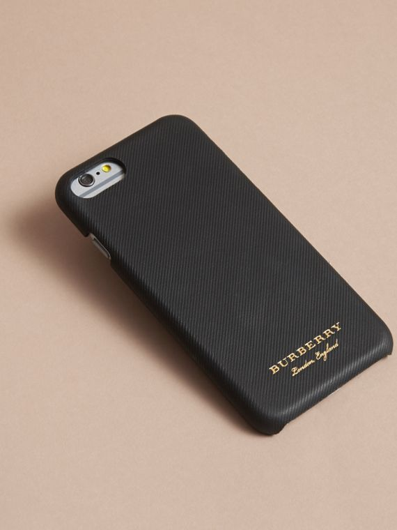 Trench Leather iPhone 7 Case in Black | Burberry Australia - cell image 2
