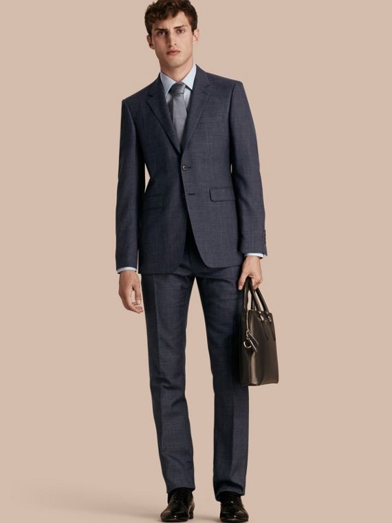 Modern Fit Wool Silk Blend Half-canvas Suit