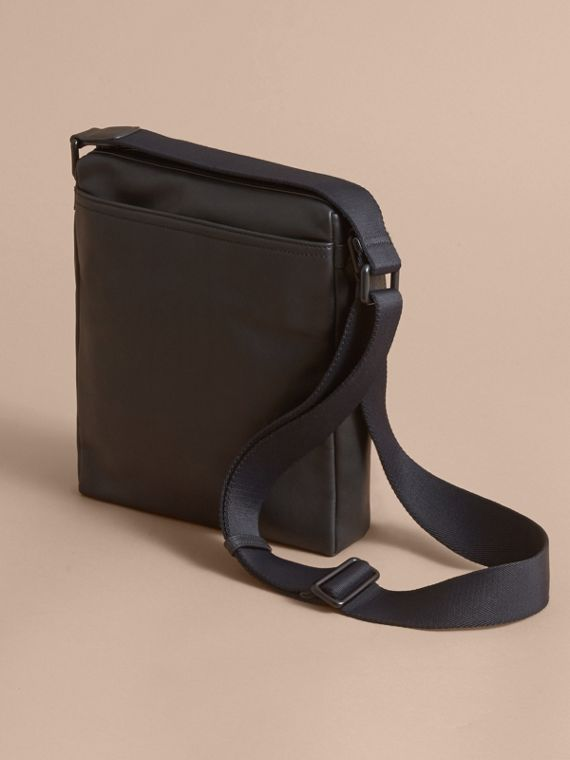 Leather Crossbody Bag in Black - Men | Burberry - cell image 3