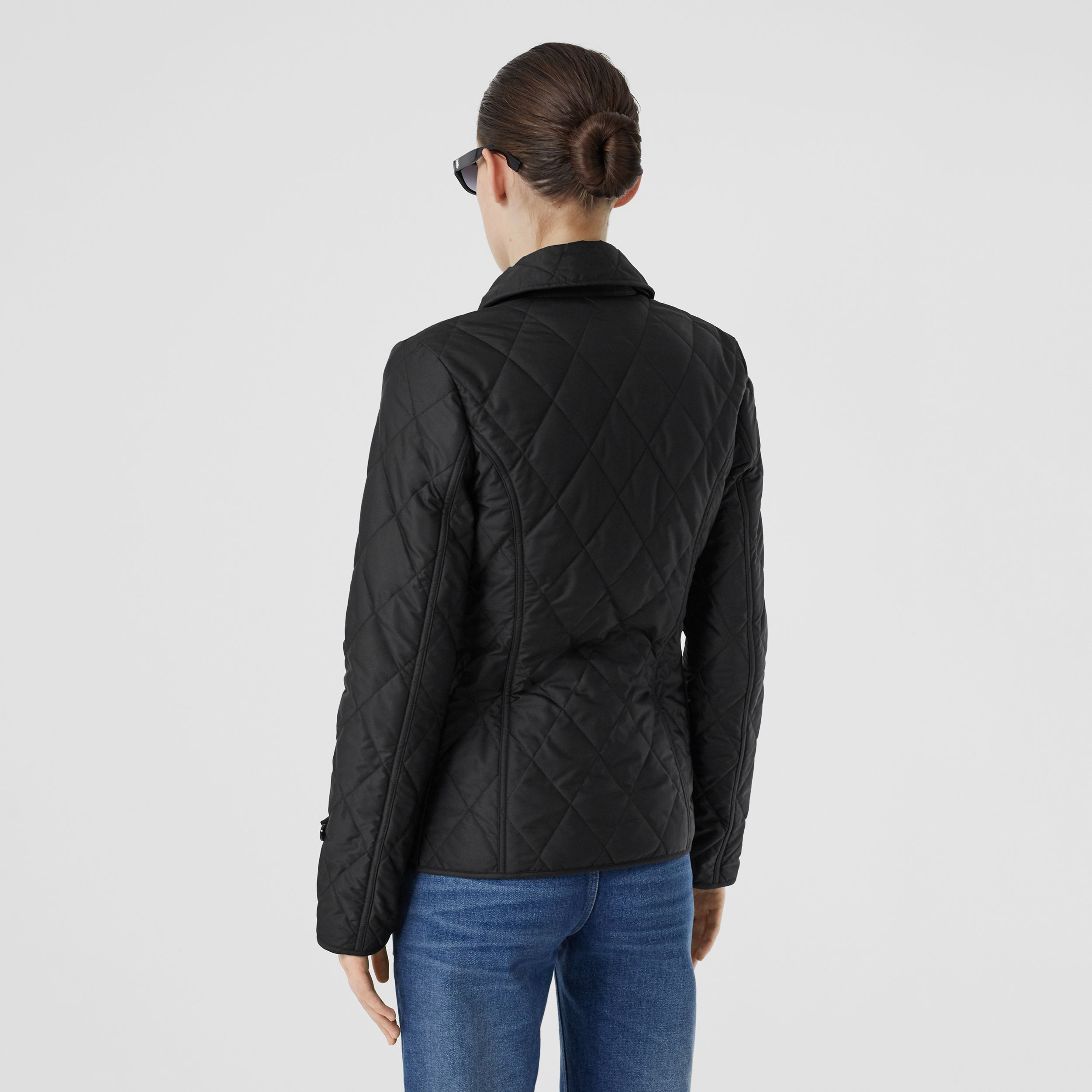 Diamond Quilted Thermoregulated Jacket in Black | Burberry - 3