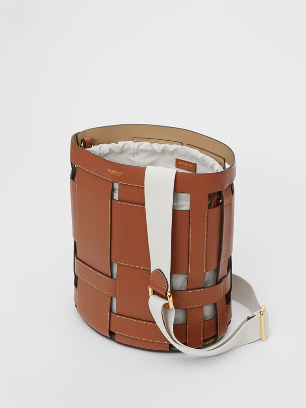 Small Leather Foster Bucket Bag in Malt Brown - Women | Burberry - cell image 3